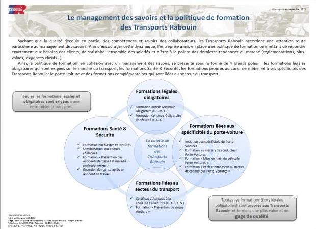 Le management des savoirs Transports Rabouin