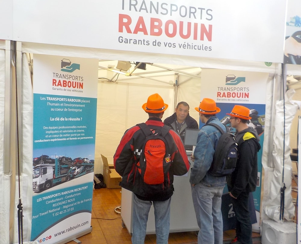 Stand Recrutement Transports Rabouin 24h Le Mans
